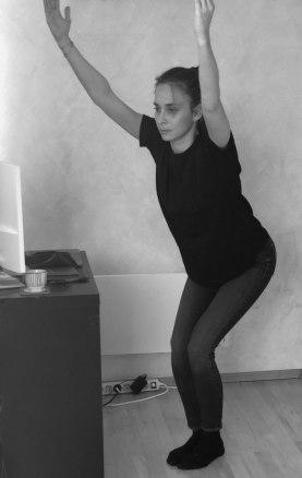 Blitz, Stuhl im Yoga